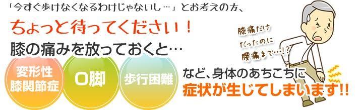 膝の痛みをほうっておくと 宝塚市 仁川駅 NAKAGAWA整骨院